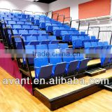 indoor retractable bucket seat,retractable stadium chair,retractable tribune system for multifunctional sports games