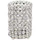 Crystal beaded bling candle holder for wedding decoration, bling hurricane