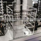 Wholesale custom clear acrylic makeup brush display box with dustproof lid