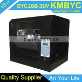 White ink inkjet printer for glass bottle and plastic bag