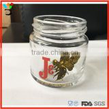 custom logo available 90ml honey glass jar