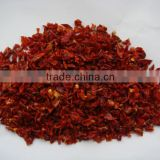air dried sweet red spice with ou certificate red bell pepper granules 10*10mm China(mainland)