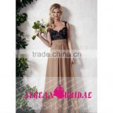 M02 Sexy Black Lace Corset Chiffion Skirt Prom Dress Spaghetti Backless Evening dress