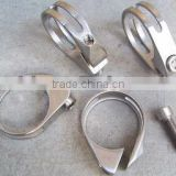 titanium double seat clamp, titanium bicycle parts,titanium bicycle part,titanium bike accessories
