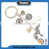 Wholesale Custom Promotional Gift High Quality Mini Animal Metal Keychain With Different Breed Dog