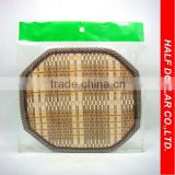 Eight-edge-type Bamboo Mats/Table Mats/Placemats For One Dollar Item,Heat Resistant For Kitchen Use