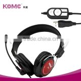 high quality fashionable hot selling mini USB headphone with microphone and volume control for computer tv