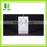 Custom Competitive Price paper offset glossy printing garment seal tags with black nylon rope