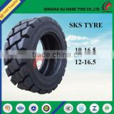 2017 China manufacturer new 10-16.5 12-16.5 skid steer tire bobcat solid wheel tire prices