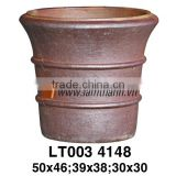 Vietnam Ceramic High Fired Pottery Outdoor Vase