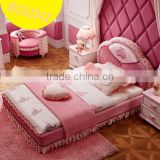 Modern pink color upholstered unique kids princess bedroom furniture sets - BF07-70345
