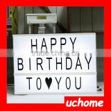 UCHOME Cinematic Light Box / Home Decoration Letter Light Box