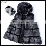 New Design Black Faux Fur And Leather Vest Fall Or Winter