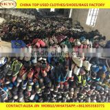 Africa buyers hot sale cream quality sorted used shoes from China second hand shoes warehouse