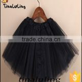 classic black ballet tutu costumes children 3 layers tulle skirts kids wears baby tutu