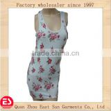 womens slim fit cutting cotton singlet