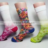 OEM 360 women heat Sublimation printing socks printing crew sock