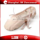 Factory wholesale ballet shoes Canvas ballet slipper for kids and women