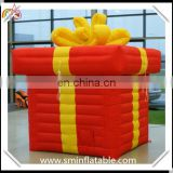Hot sale inflatable cube helium, inflatable helium gift shape,sky floating helium balloon for advertising