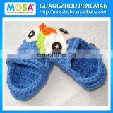 Crochet Baby Shoes Girl Owl Blue Booties Baby Slippers Crochet Loafers