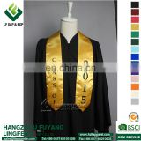 Golden Printed Graduation Stoles