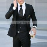 wholesale business suits- black Mens Wedding Suit - slim fit suit
