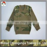 military camouflage wool army pullover