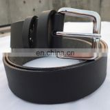 Black color Belt Genuine Leather Belt with Silver Buckle Mens Belts