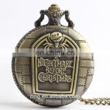 European And American Retro Large Watch Bizarre Halloween Night Ghost Skull Clamshell Pocket Watch Jewelry