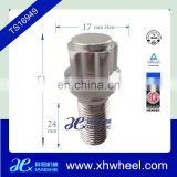 Wheel lug bolt locks 24mm thread length ball
