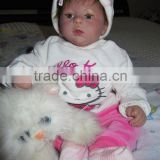 Lovely reborn doll kit baby alive girl doll