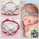 2015 fashion hair accessories Pearl crown Children's hair band baby Princess Baby Newborn Crown Hairband MY-AA0003