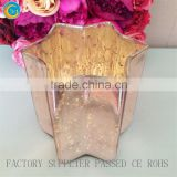 Copper Gold Peach Mercury Star Shaped Lead Crystal Glass Votive Candle Holders wedding party deco                                                                         Quality Choice