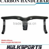 Factory Directly Supplier Carbon Road Handlebar 3K Glossy Finishing 420 mm * 90/100/110 Road Handlebar 700C Road Handle Bar