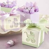 "Wedding favors-""Baby's Day Out"" Laser-Cut Carriage Favor Boxes"