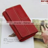 OEM Factory price! Rfid Blocking Genuine leather Women Purse,ladies wallet,women wallet