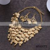 Gold Plated Necklace Set Coin Necklace Earring Set Indian Wedding Jewelry sets