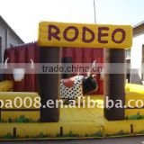 commercial inflatable bouncers game machine(bull riding machine)