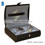 Gentleman Special Used Custom Made PU Leather Jewelry Gift Storage Boxes Watch Display Box W1452
