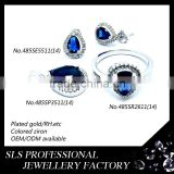 Latest-styles jewelry 925 silver jewelry handmade african blue sapphire jewelry sets