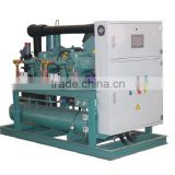 Air cooled copper condenser/semi-hermetic screw compressor unit