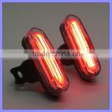 Blue Red LED Plastic Clip Collar 120LM Bicycle Front Light Warm Security Lamp