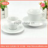 espresso coffee cup and dish ceramics white porcelain coffee cup and saucer,accept custom design for promotion