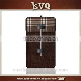 Shenzhen KVQ factory exclusive design new design neck leather pouch for all size and brand mobile phone case
