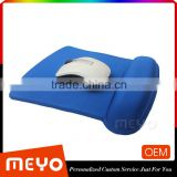 2016 China memory foam mouse pad with soft hand rest mat