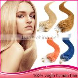 "Alibaba Wholesale Unprocessed Brazilian Virgin Human Hair Weaving 28""Long Straight Micro Ring Loop Hair Extension"