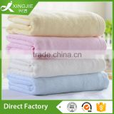 Plain dyed plain weave bamboo fiber bath towel