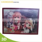 customized PP picture PET picture lenticular picture with LED 3d lenticular picture 3d picture