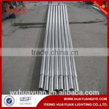 Steel round base plate tubular light pole