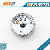 (YL-23D) 23mm micro size single psi scale dial style cheap price no oil gas cylinder gauge manometer